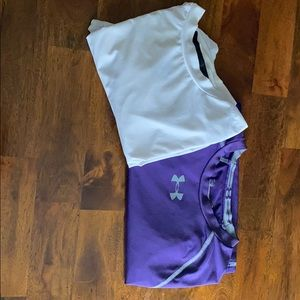 Under Armour and Starter compression shirts